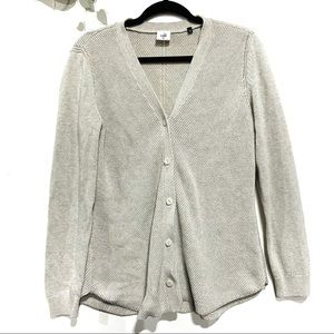 CAbi button down cardigan cream cotton blend